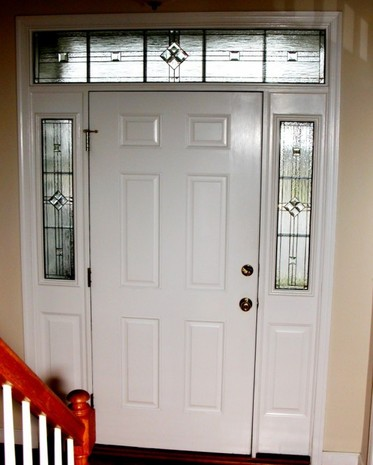 Barnaby Sidelights Custom Leaded Glass