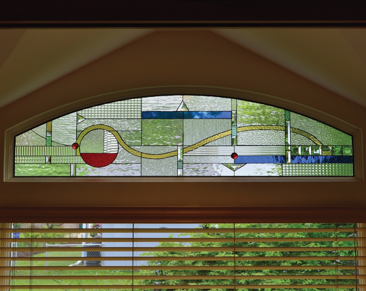 Decorative glass solutions custom stained glass custom for Custom transom
