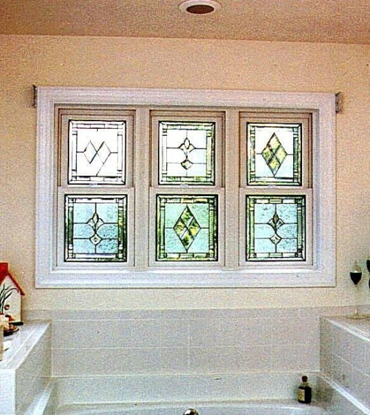Decorative glass solutions custom stained glass custom for Stained glass bathroom window designs