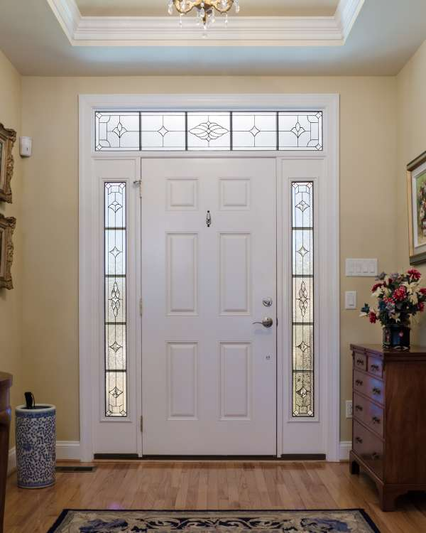 Decorative glass solutions custom stained glass custom Exterior doors with sidelights and transoms