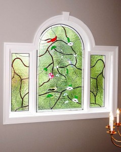 Birds and Vines Capolarello window