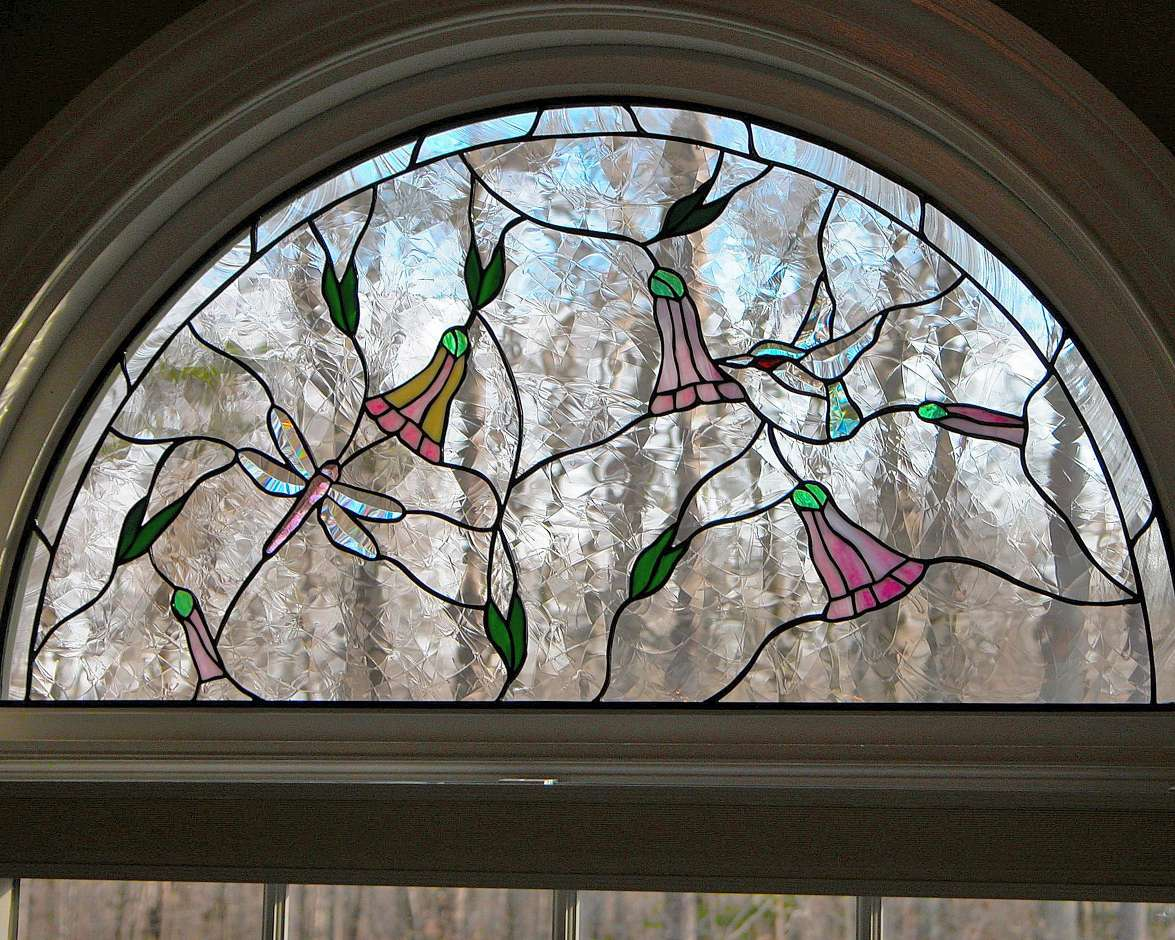 Semi Circle Stained Glass Window