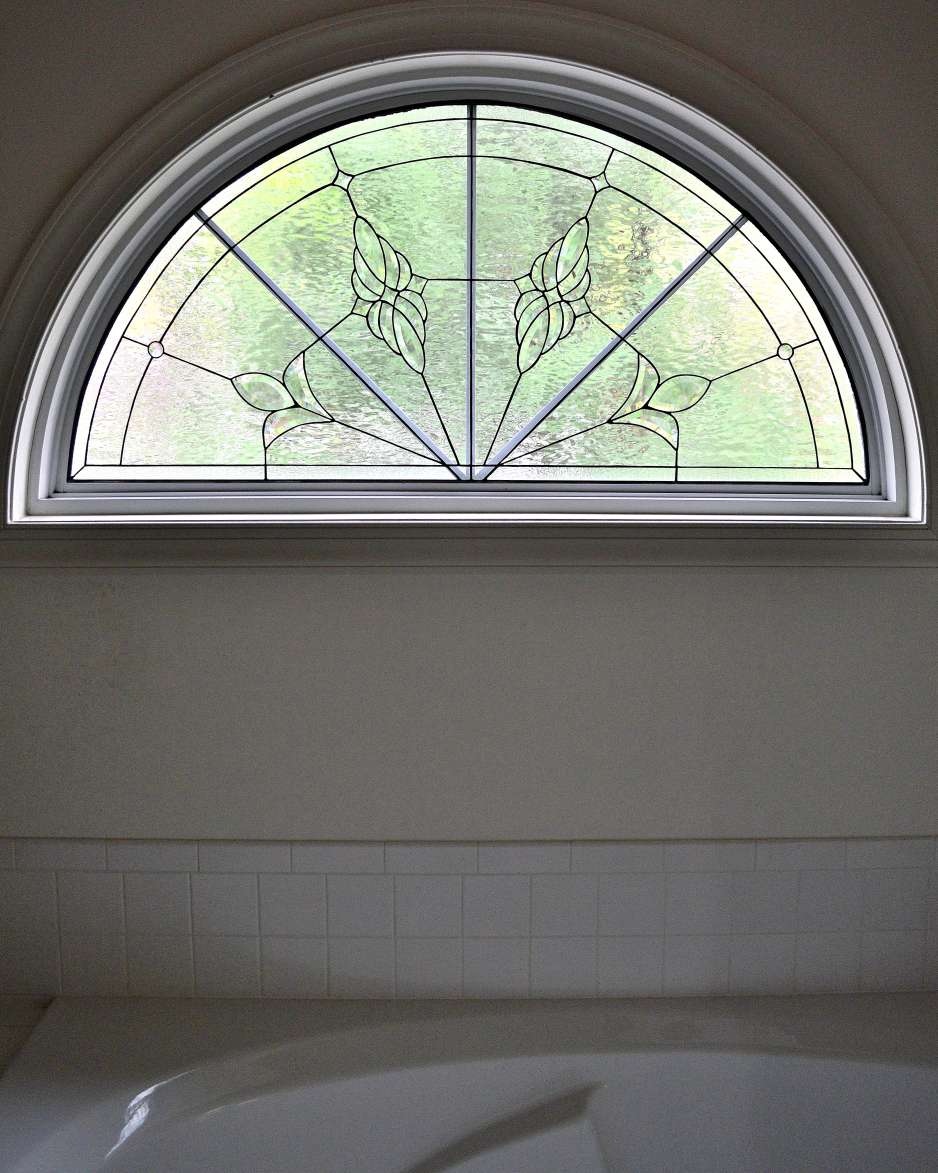 Decorative glass solutions custom stained glass custom for Half round transom