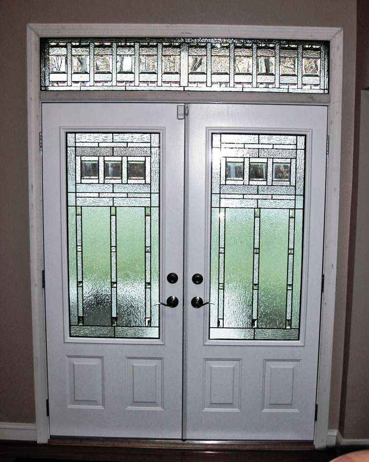 Decorative glass solutions custom stained glass custom for Craftsman french doors