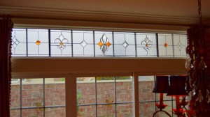 Traditional Flur de Lis Color Transom Foreman