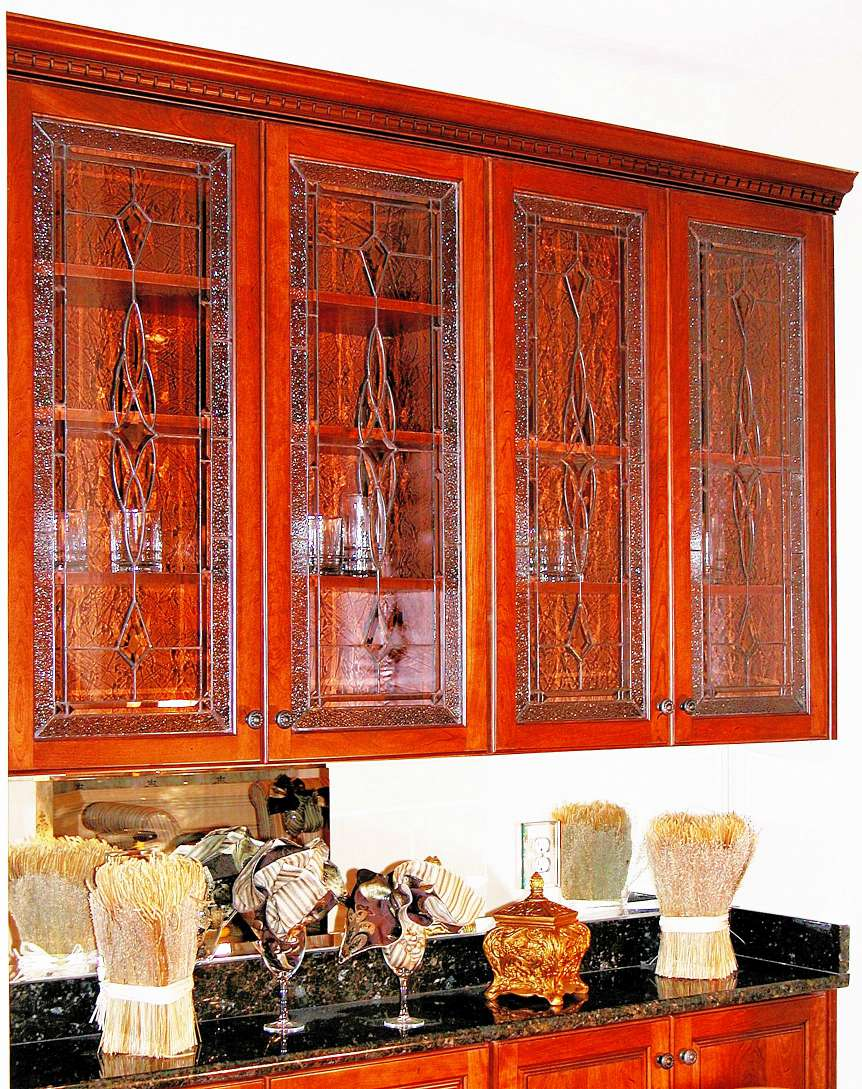 Corner Cabinet Carter & Decorative Glass Solutions - Custom Stained Glass u0026 Custom Leaded ...