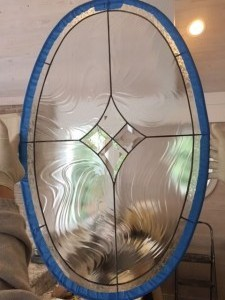 "2 Oval Bevel Glass Panels - prepped for install 20 3/16 "" x 32 7/16""Retail: $650 each, Sale: $325.00 each"