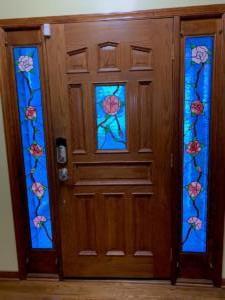 Floral sidelights $895 / Door panel $195