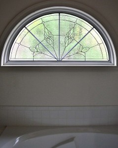 Traditional Half Round Bath transom